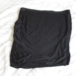 HELMUT LANG black jersey ruched skirt (US Small)